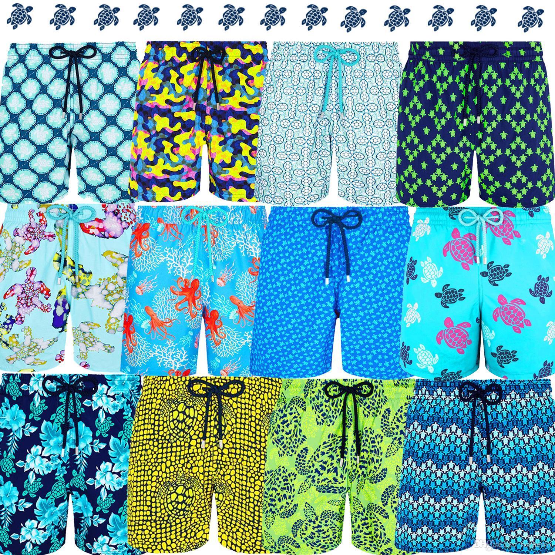 Vilebre Marke Board Shorts Men Bermuda Vilebre Turtle Printing Boardshort 100% Quick Dry Herren Bademode V070255