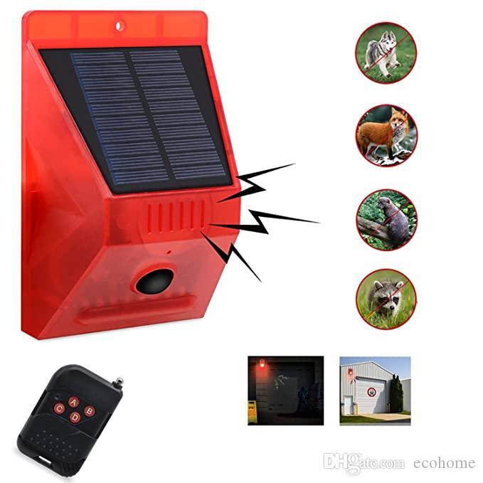 إنذار الأمن الشمسية نظام موشن الكاشف الشمسية الخفيفة إنذار 129db الصوت صفارة الإنذار الأمن مع وحدة تحكم عن بعد