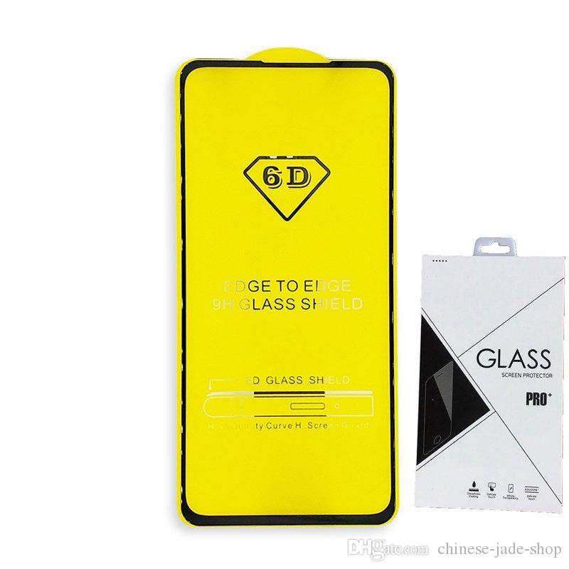 Pacote de varejo Cobertura completa 21D 9D Protetor de tela de vidro temperado Protetor de cola AB Borda a borda para Motorola Moto G6 Plus G6 Play E5 Plus E5 Play 100P