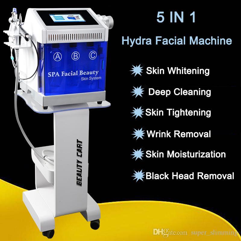 اللوازم الطبية منظف الوجه العميق رذاذ الأكسجين الماس جلدي تقشير الجلد hydrodermabrasion مناسبة لجميع آلة الوجه المائية