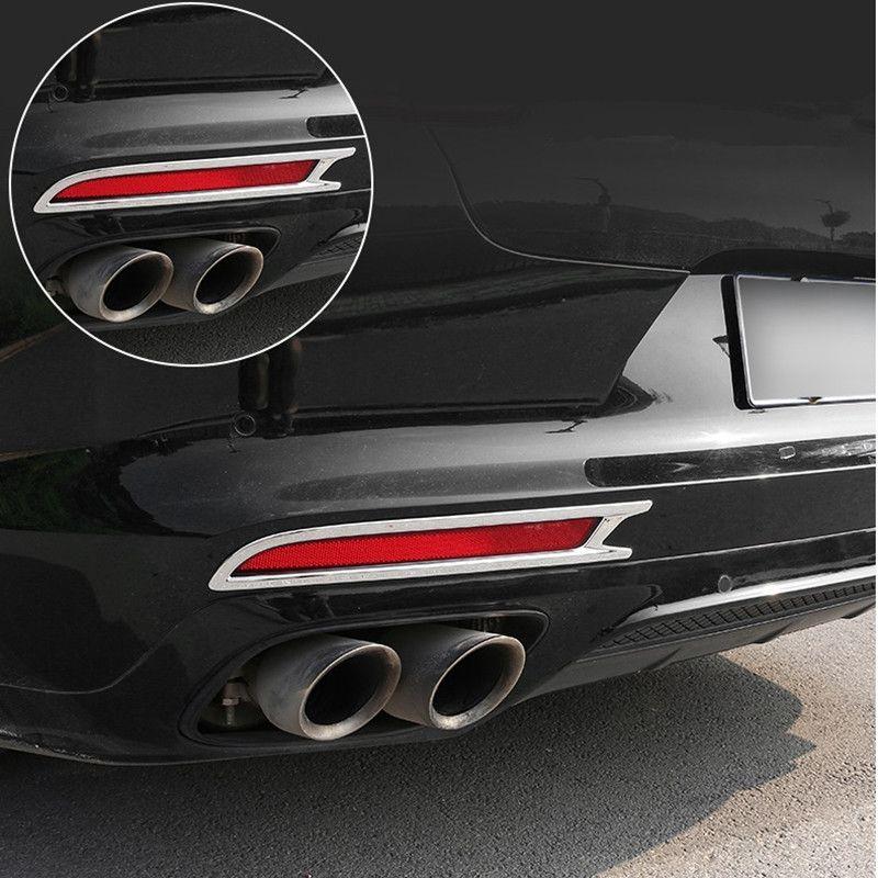 2 unids ABS Coche Luz de Niebla Trasera Cubierta de Luz Cubierta de Moldura Moldura para Porsche Panamera 2017 2018 Accesorios
