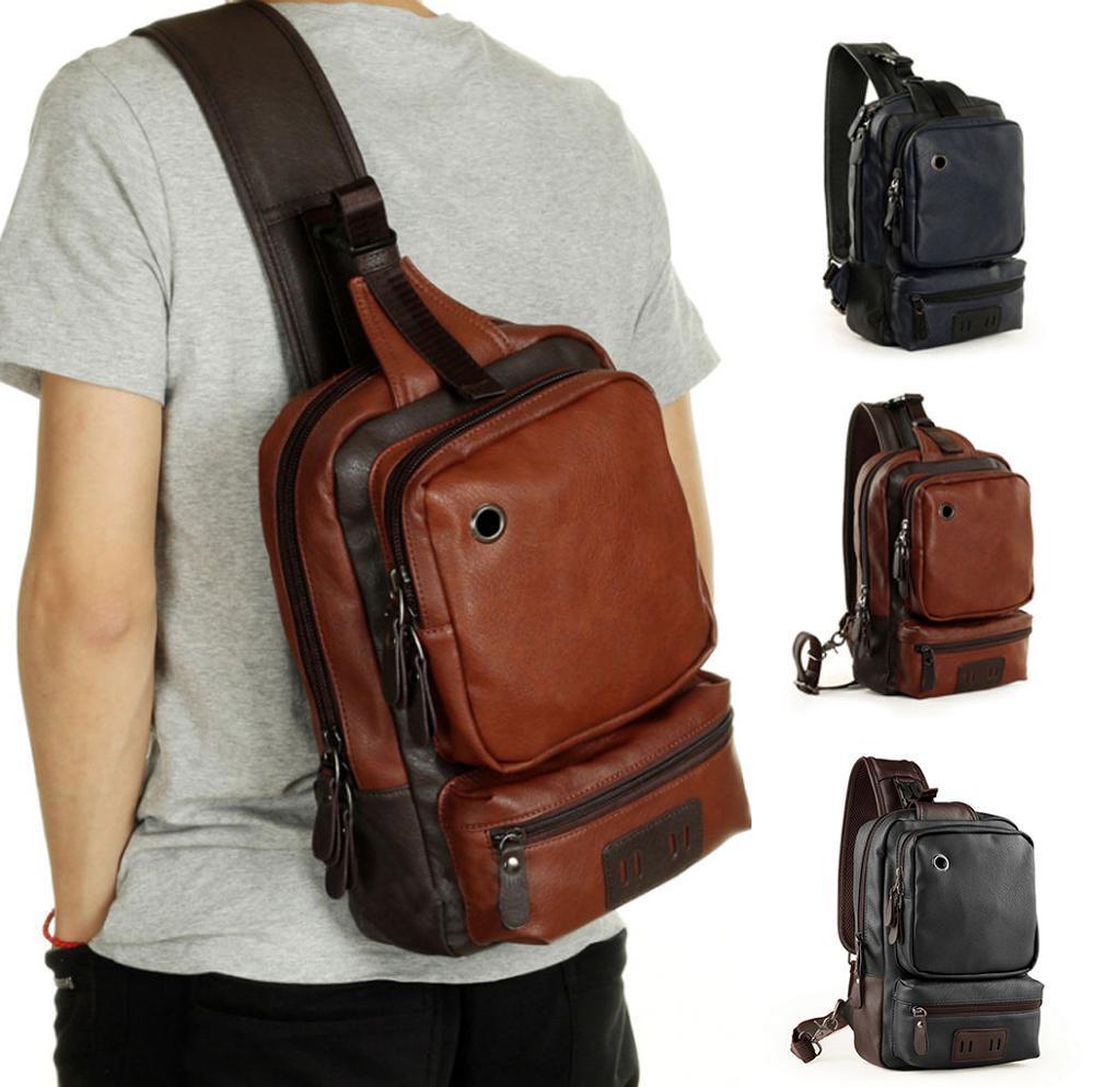 Designer--Mann-Rucksack Leder Schulranzen Mode wasserdichte Reisetasche Lässige Leder Male Großer Laptop Business Bag