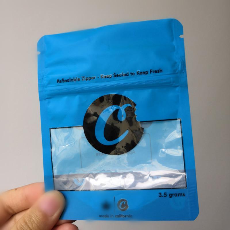 ÇERÇEVE California SF 8th 3.5g Mylar Çocuk Geçirmez Çanta 420 Paketleme Bağlı Çerezler Çanta boyutu 3.5g-1/8 Torbalar