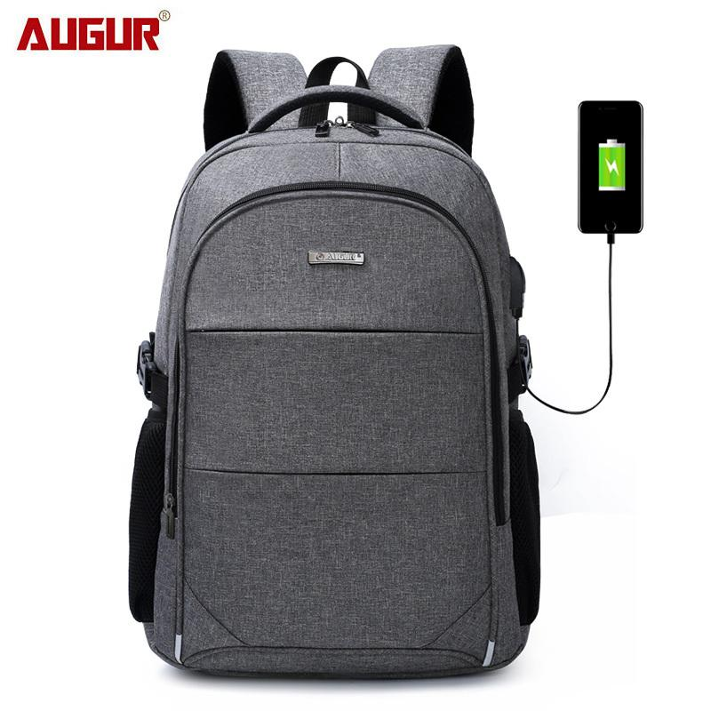 15.6-17 дюймов ноутбук рюкзак для женщин мужчин водонепроницаемый Оксфорд USB порт зарядки рюкзаки бизнес мужская школа рюкзак сумка T200326