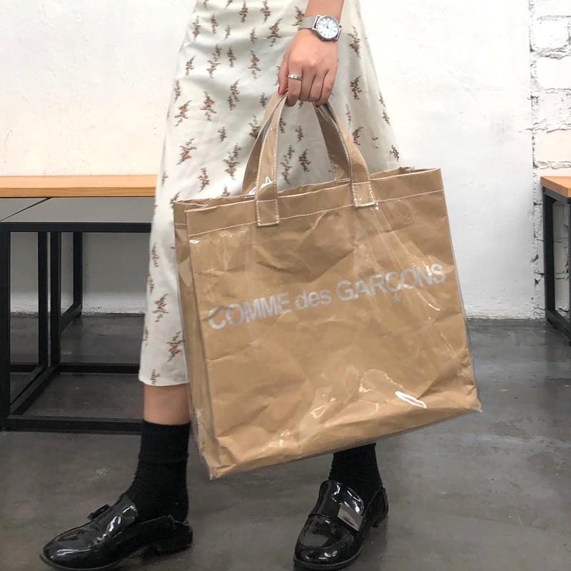 Transparente PVC-Beutel für Frauen große Kapazitäts Karft Papiereinkaufstasche Handtaschen-Frauen-Beutel-Handtasche Sac A Haupt
