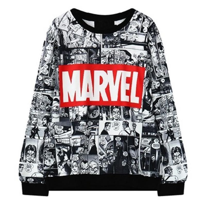 Weihnachten Marvel-Sweatshirt Female Frauen S Anzug Harajuku Frauen Sweatshirts Exo Bts Kpop Maxi-Pullover Frauen-Kleid