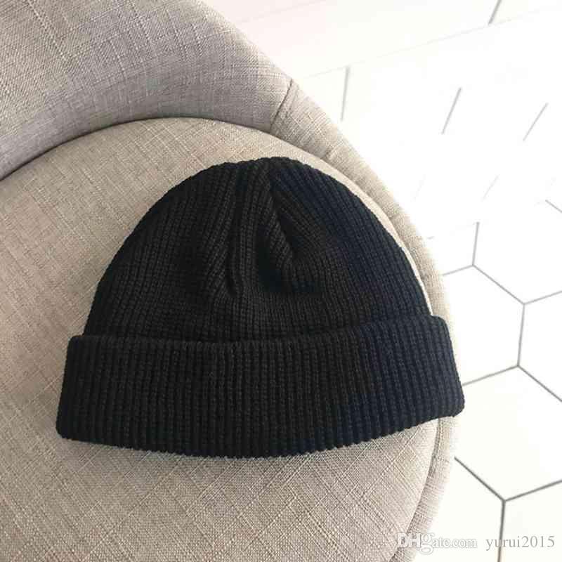 2019 новинка уличная шапка зимняя мужская и женская вязаная теплая дыня на улице уличный танец шерсть студент хип-хоп короткая секция кепка