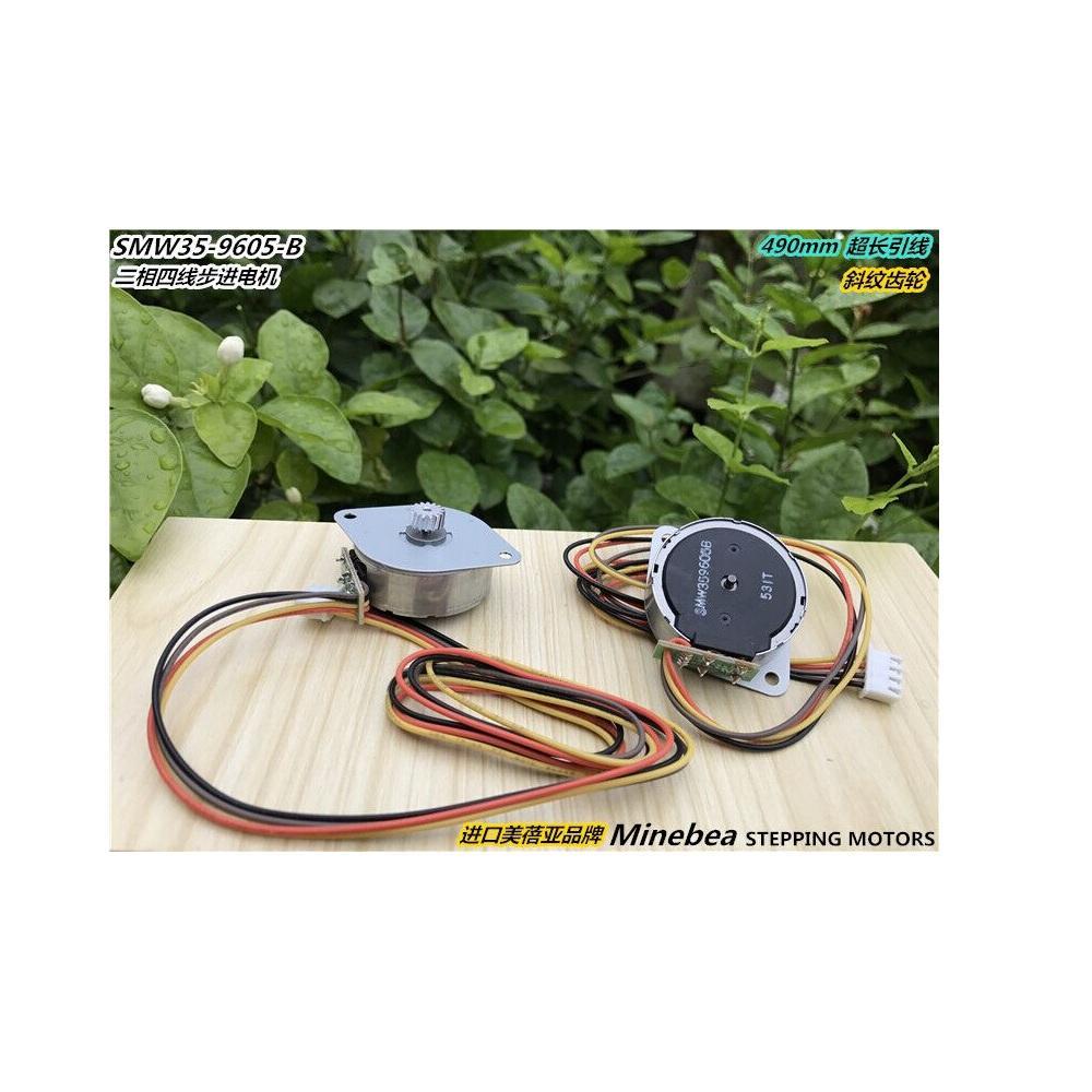 4PCS japonês Original MINEBEA NMB SMW35 35MM Duas Fases Quatro Fios Circular Stepper Motor