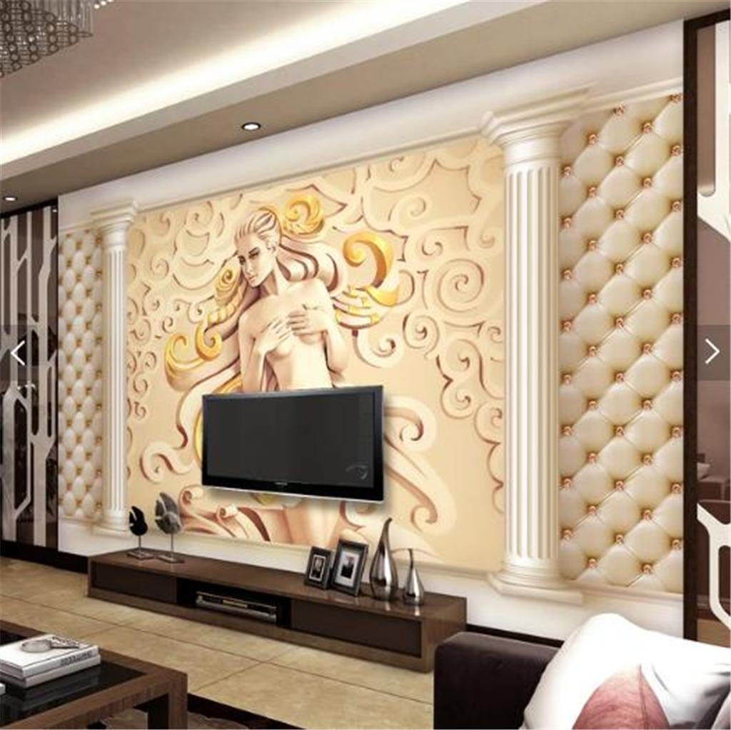 3d Wallpaper Custom European Luxury Relief 3d Stereo Roman Column Living Room Bedroom Background Wall Decoration Wallpaper Wallpaper A Desk Wallpaper