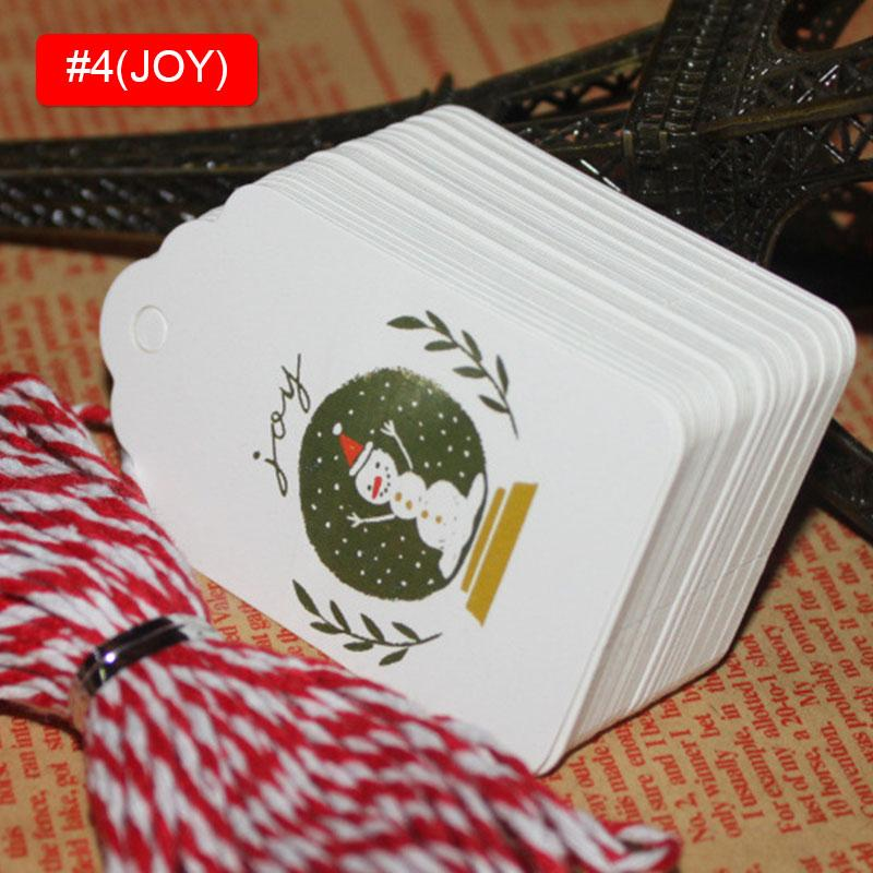 Rótulo de natal Natal Pendurar Tags Tags Presente Xmas Cookie Festival Festa Desenho Colorido 50 unidades / pacote Moda Criativa Aniversário