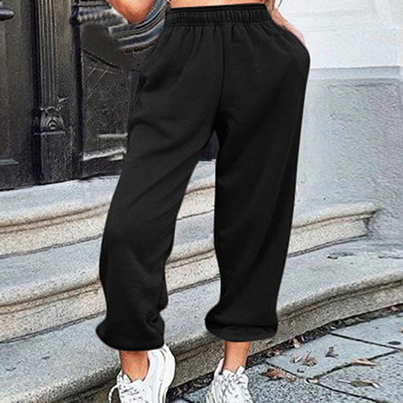 Black Cargo Pants Big Pockets Joggers Pants Women High Waist Loose Streetwear Baggy Tactical Trouser HipHop