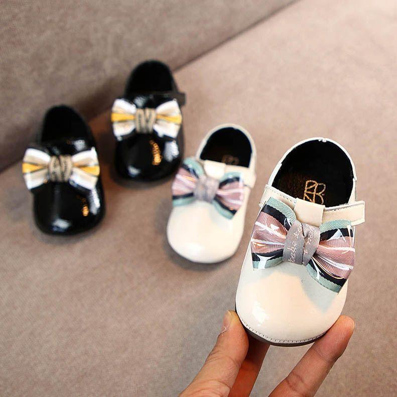 Ins Весна банты девочек обуви детской обуви обувь малыш девочка обувь принцесса моды малыш девушка дизайнер обуви девушка ботинки платье B84