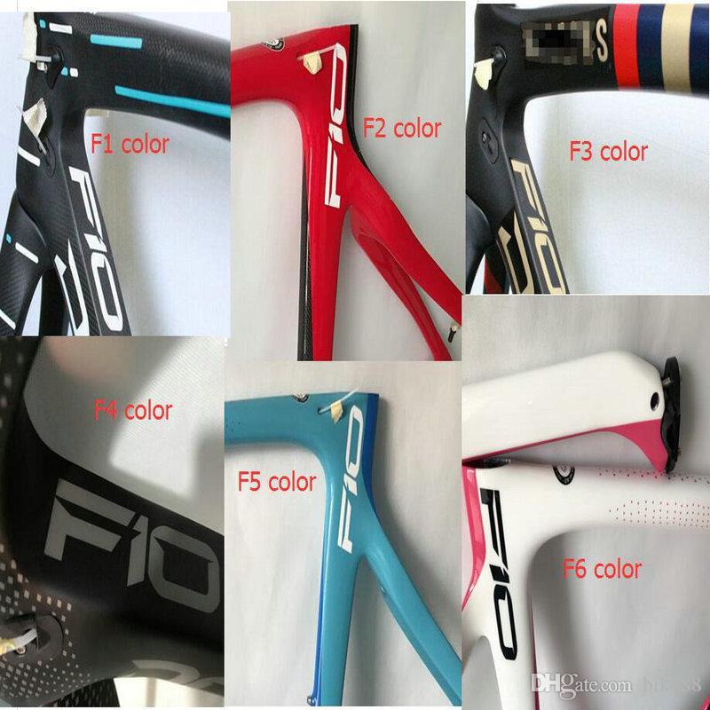 2020 style bicycle carbon f10 v brakes red black cycling frameset F10 sky team racing familrok bsa / bb30 1k t 1100 byke frameset