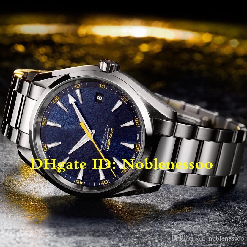 2 نمط VS CAL.8507 السويسري حركة رجل أزرق الطلب 150M 231.10.42.21.03.004 AquaTerra جيمس بوند 007 ETA 8507 الساعات التلقائي للرجال ووتش
