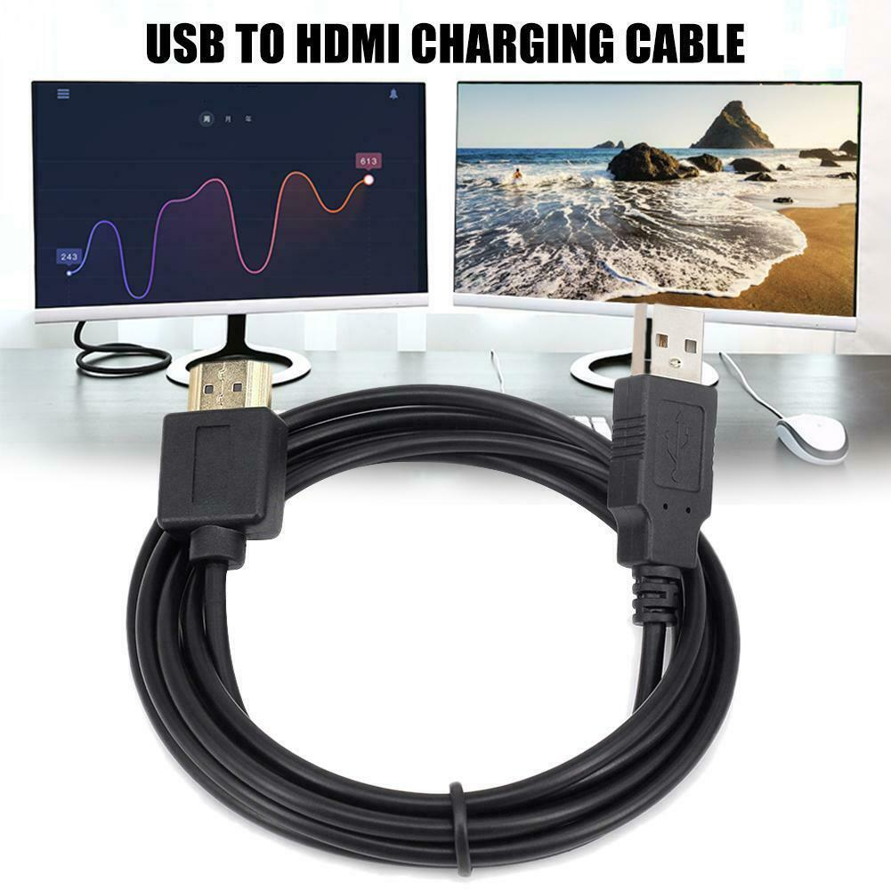 Smart Device Laptop Power HDMI-Kabel Stecker-Famel HDMI-auf-USB-Energien-Kabel USB-HDMI-Kabel