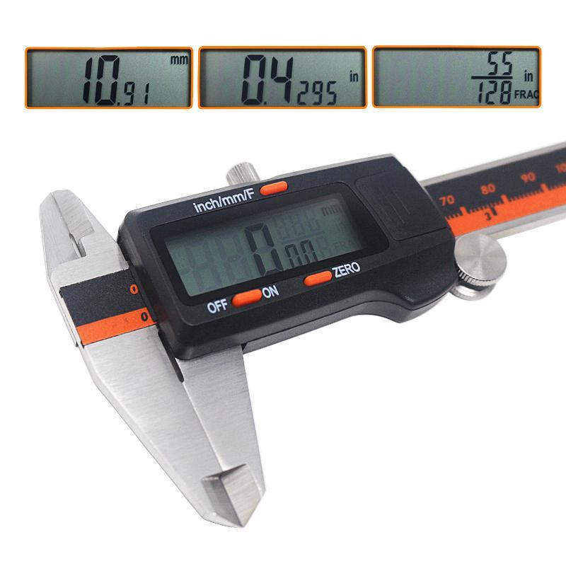 6-дюймовый 150 мм суппорт из нержавеющей стали / мм / дюймовый электронный цифровой ЖК-вершин микрометр Глубина глубины высоты