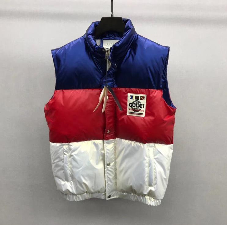 Роскошные Мужчины Женщины Куртки Осень Зима теплая молния пальто мужские куртки Марка с длинным рукавом вниз пальто Толстые Ветровка C3 B102573K