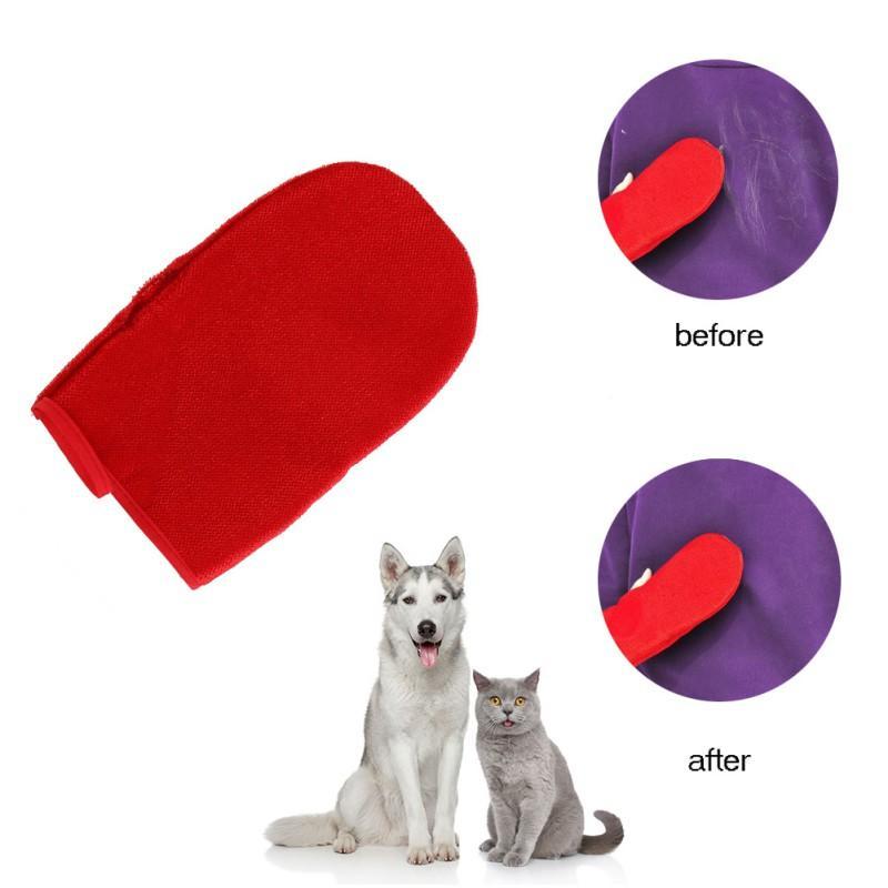 العلامة التجارية الجديدة السوبر العملي زينة الحيوانات الأليفة القط الصوف القط الكلب القفازات مستلزمات الحيوانات الأليفة مزيل الشعر الأحمر