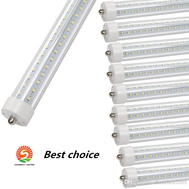 T8 5ft LED Cooler Door Tube Lamps 45w AC110V FA8 Single Pin Dual-End Powered Ballast Bypass Clear Len 6500K F60T12 Replacement Fluorescent