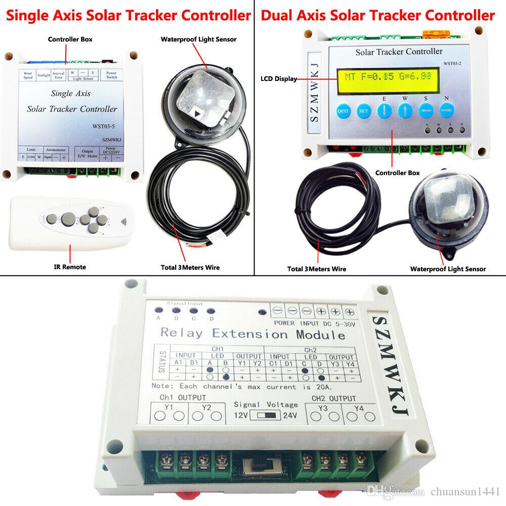 USA Dual Axis Solar Panel Tracking Tracker Electronic Controller W// Relay Module