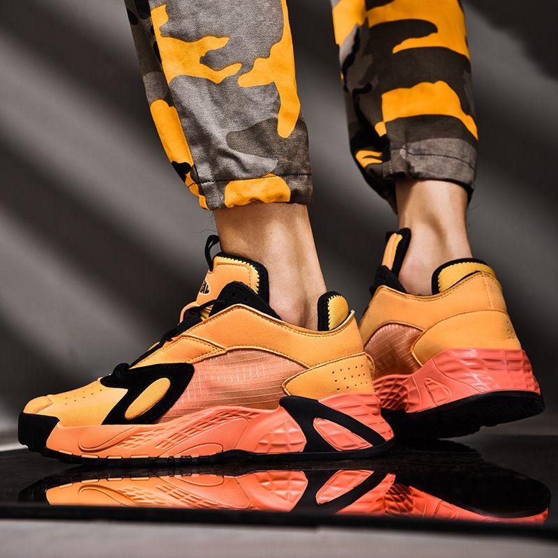 Basketball-Schuhe der Männer 2019 neue Herrenschuhe Super Feuer Schuhe Dad Tide Schuhe Funsport Hoch-Spitze Schuhe Herrengröße 39-44