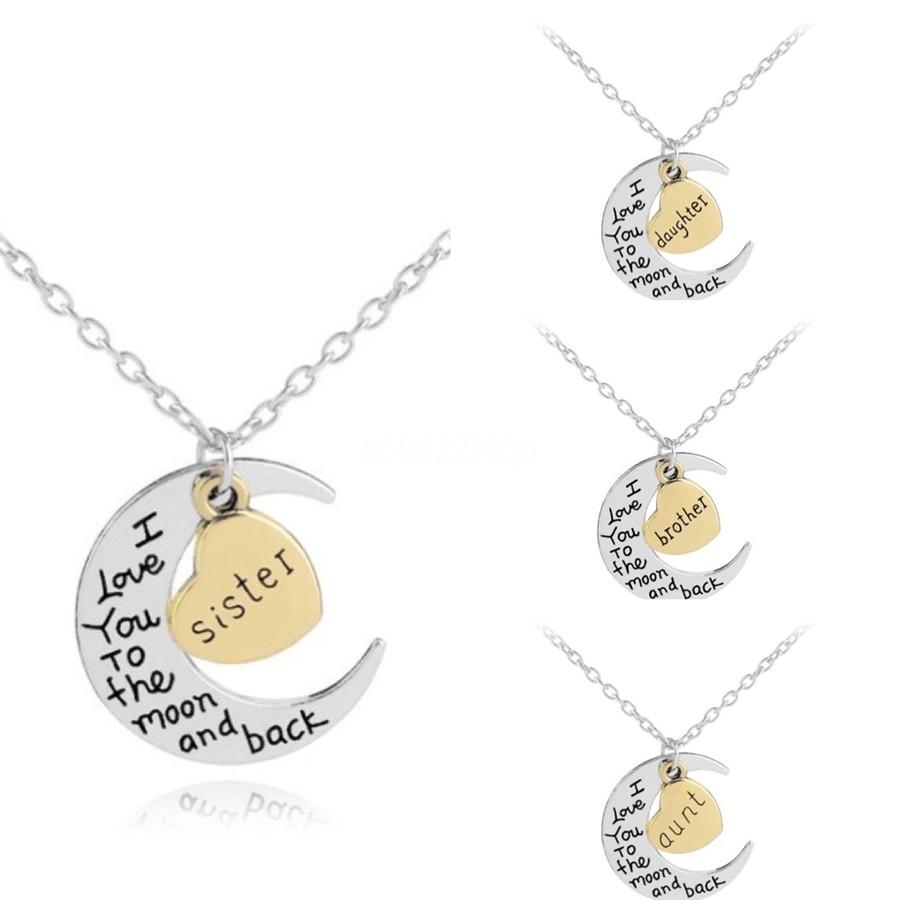 Romantic Love Pendant Necklace For Girls 2020 Women Rhinestone Initial Letter Necklace Alphabet Gold Collars Trendy New Charms#582