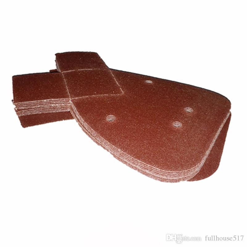 Discos de lijado abrasivo de 4 orificios Flocado Papel de lija Sin polvo Sin lija y lijado Herramientas de mano 40 60 80 100 120 180 240 320 400 600 800 Grano