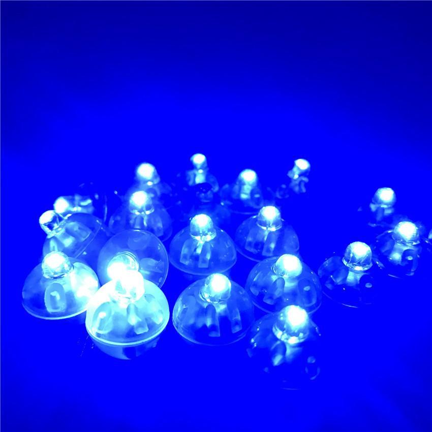100Pcs Lot Round Led RGB Flash Ball Lamps Hot Sale New Decoration Balloon Lights Flashlight Ball Lights Red, White, Blue, Pink