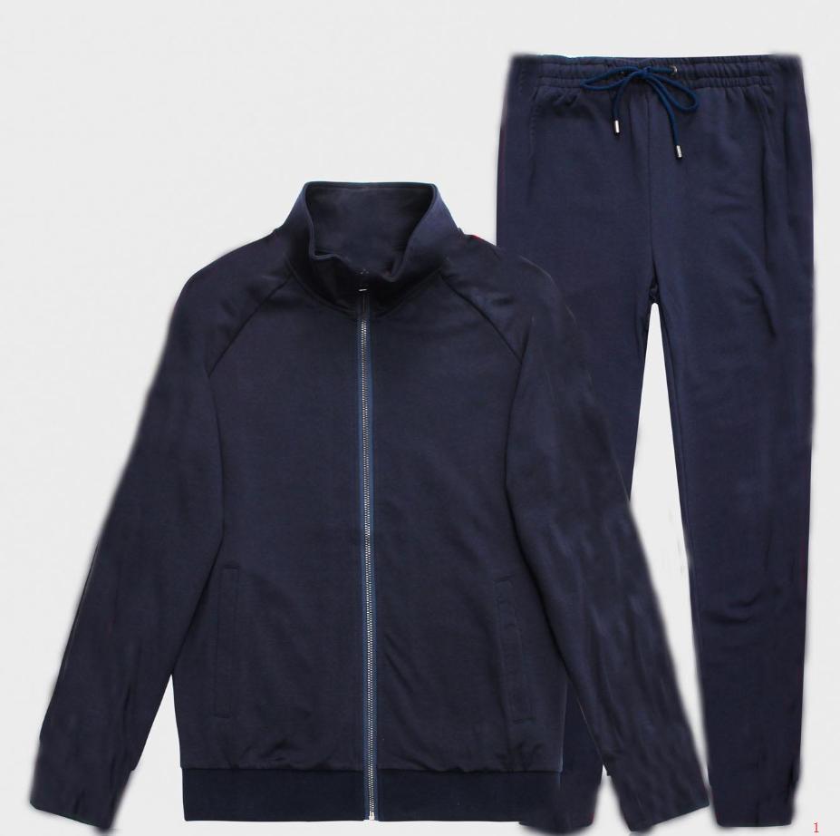 Erkek Eşofman Ceket ve Pantolon Moda Spor Kazak Marka Tasarımcı İki Adet Suit Fermuar Ceket ve Uzun Pantolon M-3XL XY1870401