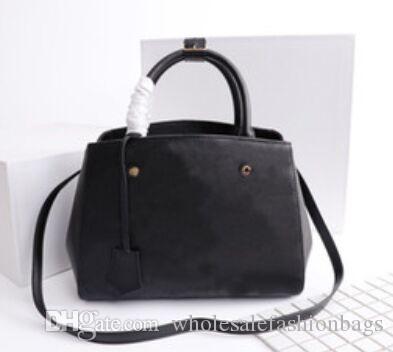 En kaliteli oksitleyici hakiki deri kadın Montaigne MM BB çanta omuz çantası taşımak çanta