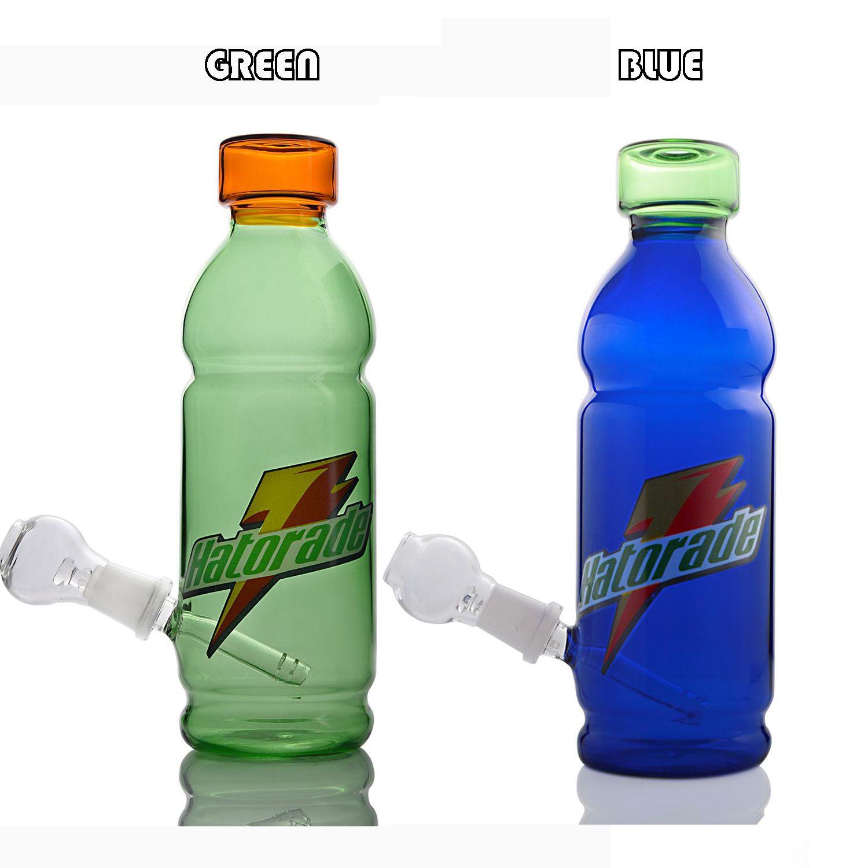 Getränkeflasche Bong ART Glas Wasserpfeifen Rotweinglas Recycler Ölplattformen Bongs in stabilen Glas Shisha Bongs GÜNSTIG
