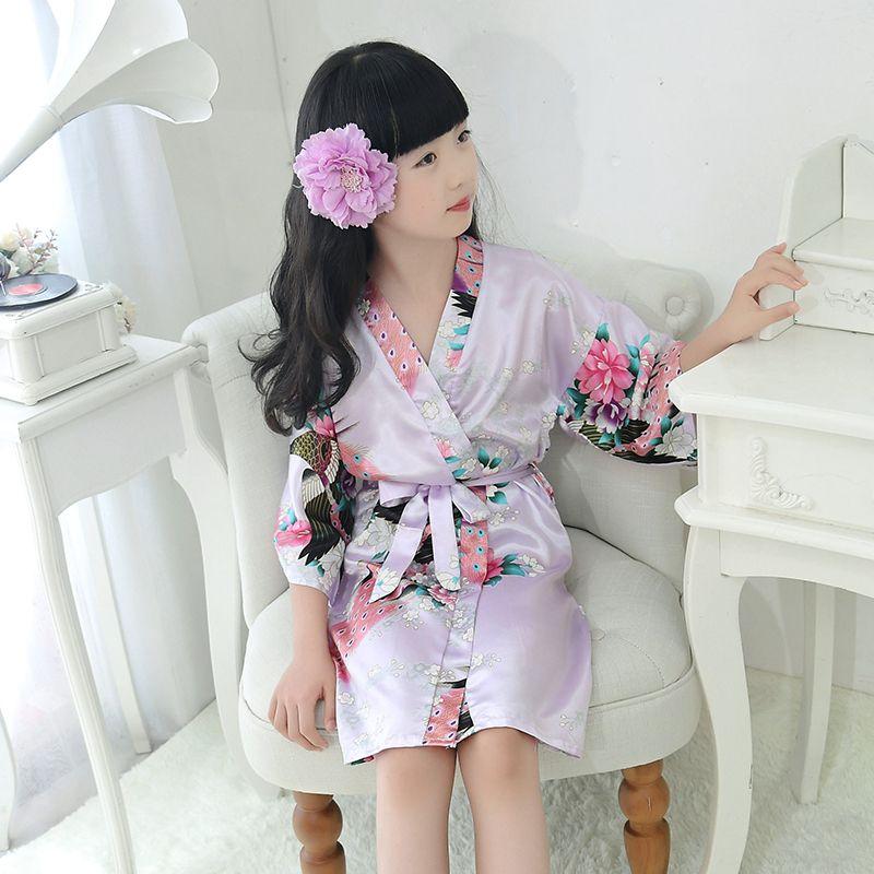 Girl Dress 2019 Summer Cotton pajamas print Children Dresses Polka Dot Kids Dresses for Girl bathrobe Girls Clothing