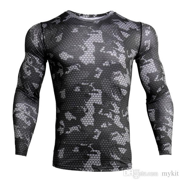 Manga corta MYKIT Nueva camisa de deporte de los hombres de secado rápido de los hombres de funcionamiento de las camisetas de la serpiente gimnasia ropa de deporte de los hombres superiores Rashgard 040
