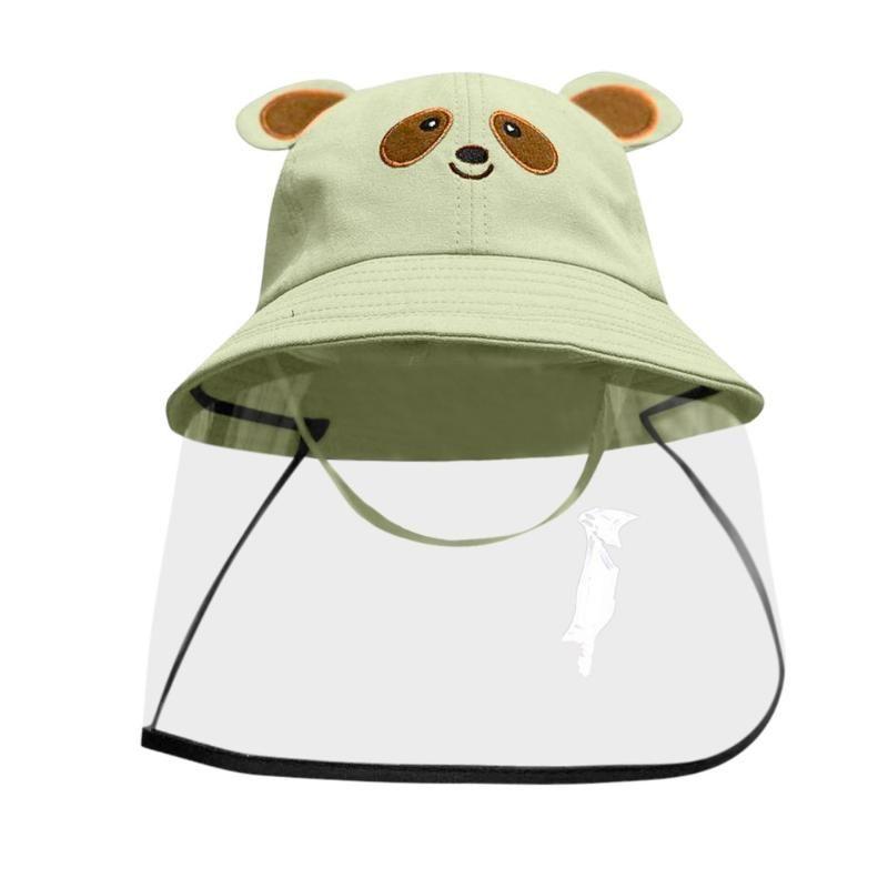 Anti-spitting Protective Hat Kids Boys Girls Dustproof Cover Baby Cute Cartoon Waterproof Fisherman Cap czapka dla dziewczynki