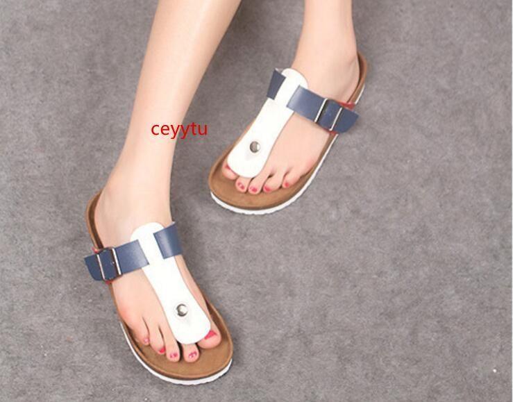 Boken Casual Sandals Moda cortiça chinelos chinelos de praia Homens verão Mulher de tendência anti-derrapante flip sandálias femininas