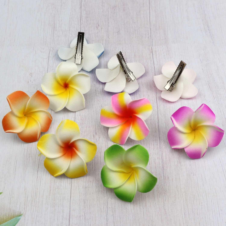 10 Pcs Plumeria Foam Hair Accessory Flower Hairpin Frangipani bridal hair clip