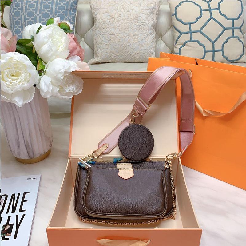 Mejor teléfono bolsos de hombro venta bolso del diseñador de moda bolsa de la mujer bolso de bolsas de tres piezas bolsas de compras libres de combinación