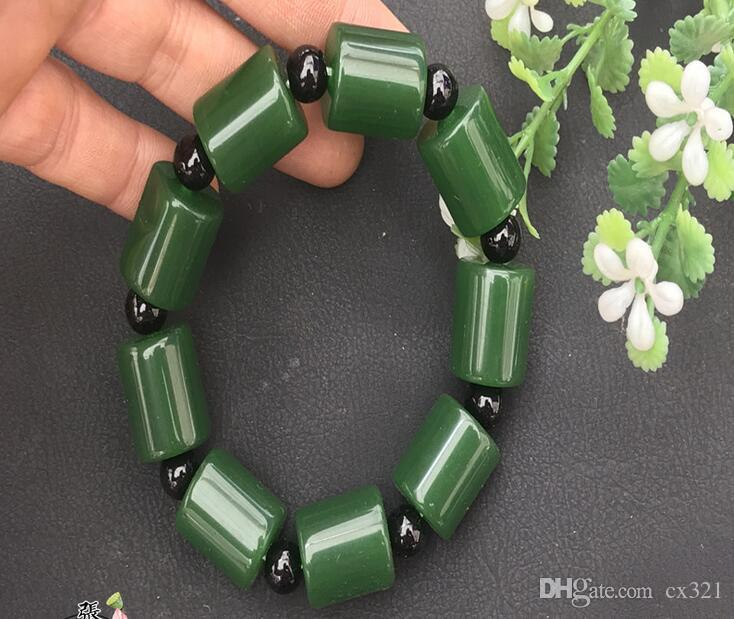 Antique jade antiques, antique materials, old jade, stone, dry, green bracelet, bracelet, beads, men and women