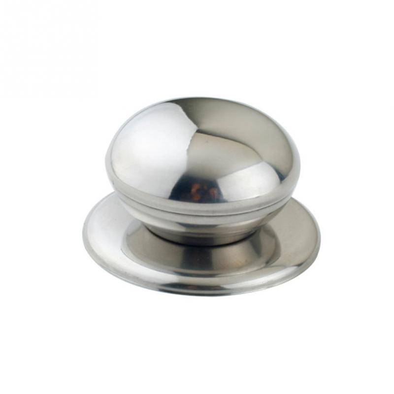 Nova Cozinha Utensílios de Cozinha Panelas de Aço Inoxidável Substituível Pan Pot Tampa Da Lidar Com Alça Botão Punho Aperto