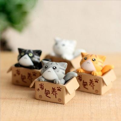 Симпатичные Seek Лелеяние сыр кот Аниме игрушечную фигурку игрушки DIY модель для детей Детские Рождественские игрушки для девочек Подарки 4шт / Lot EEA830