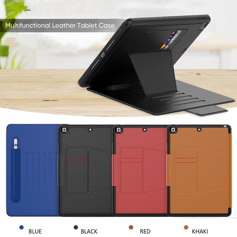 """ثلاث طبقة حماية متعددة الوظائف حالة فتحة بطاقة حامل قلم رصاص غطاء مغناطيسي ل iPad mini 4/5 iPad air 9.7 """"ipad 10.2"""" غالاكسي تبويب"""