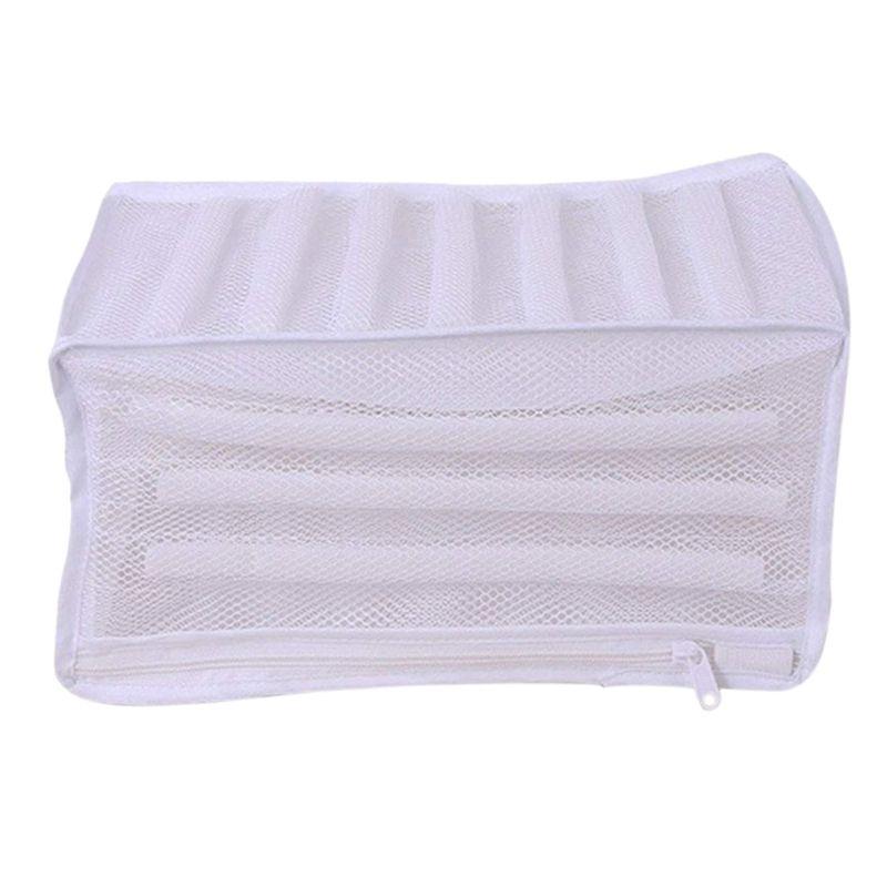 , Çamaşır Makinesinde Ayakkabı Koşu Dayanıklı Washin Erkekler Aletleri için Beyaz yastıklı Mesh Çamaşırhane Çanta Prim Fermuar Ağır Hizmet Depolama