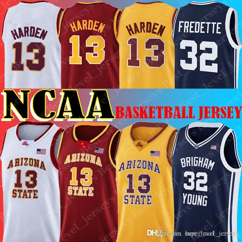 NCAA Jersey 13 James Jerseys Harden Arizona State State Sun Devils 32 Jimmer Fredette Jerseys Cougars Young
