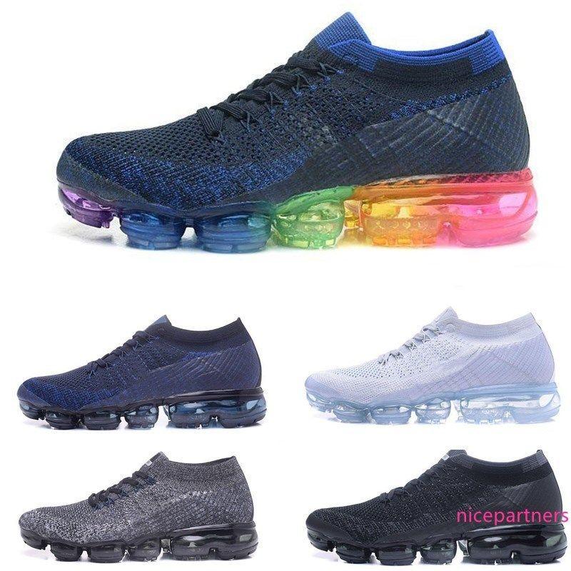 Top-Qualität Regenbogen Flair Kissen Mann lässig athletischer Sport Hot Corss Wandern Jogging Wandern Outdoor-Paar Schuhe size36-45
