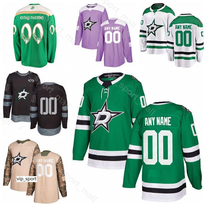 Hombres Niños Mujeres Dallas Estrellas Hockey sobre hielo 90 Jason Spezza Jersey 47 Alexander Radulov John Klingberg Esa Lindell Miro Heiskanen Green White