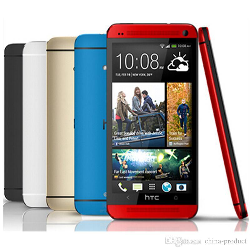 تم تجديده الأصل HTC M7 4.7 بوصة رباعية النواة 2GB RAM 16GB / 32GB ROM الروبوت 4.1 الهاتف WIFI GPS سمارت موبايل