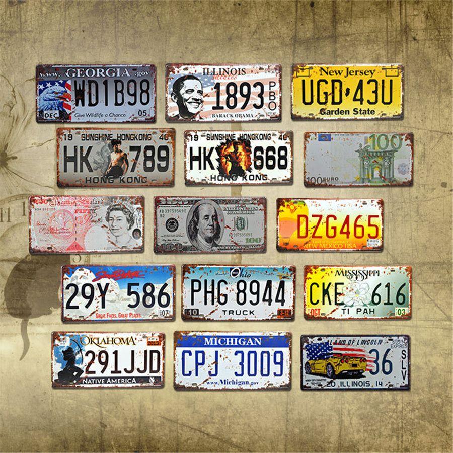예술 플라크 포스터 JK2006KD 회화 자동차 면허 금속 플레이트 자동차 번호 주석 징후 바, 펍 카페 장식 금속 기호 주차장