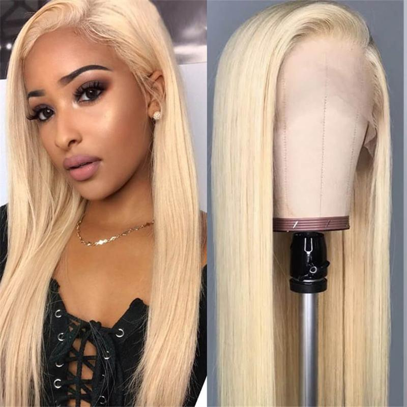Cheop Silk Straight 613 Blonde Lace Front Wig Full Lace Human Hair Wigs Pre Plucked Hairline With Baby Hair Brazilian Remy Hair 8~20inches