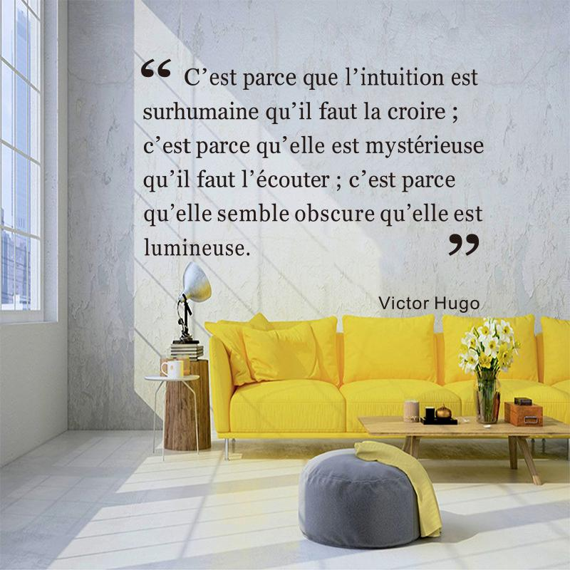 French Citation Wall Sticker Sticker Mural Family Wall Home