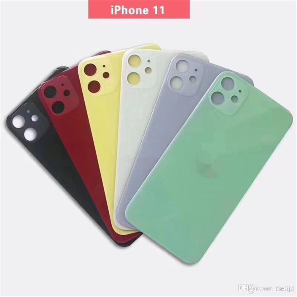 iPhone 11 Pro MAX yerine Konut Arka Pil Kapı Pil Kapağı için 10pcs Geri Cam pil kapağı